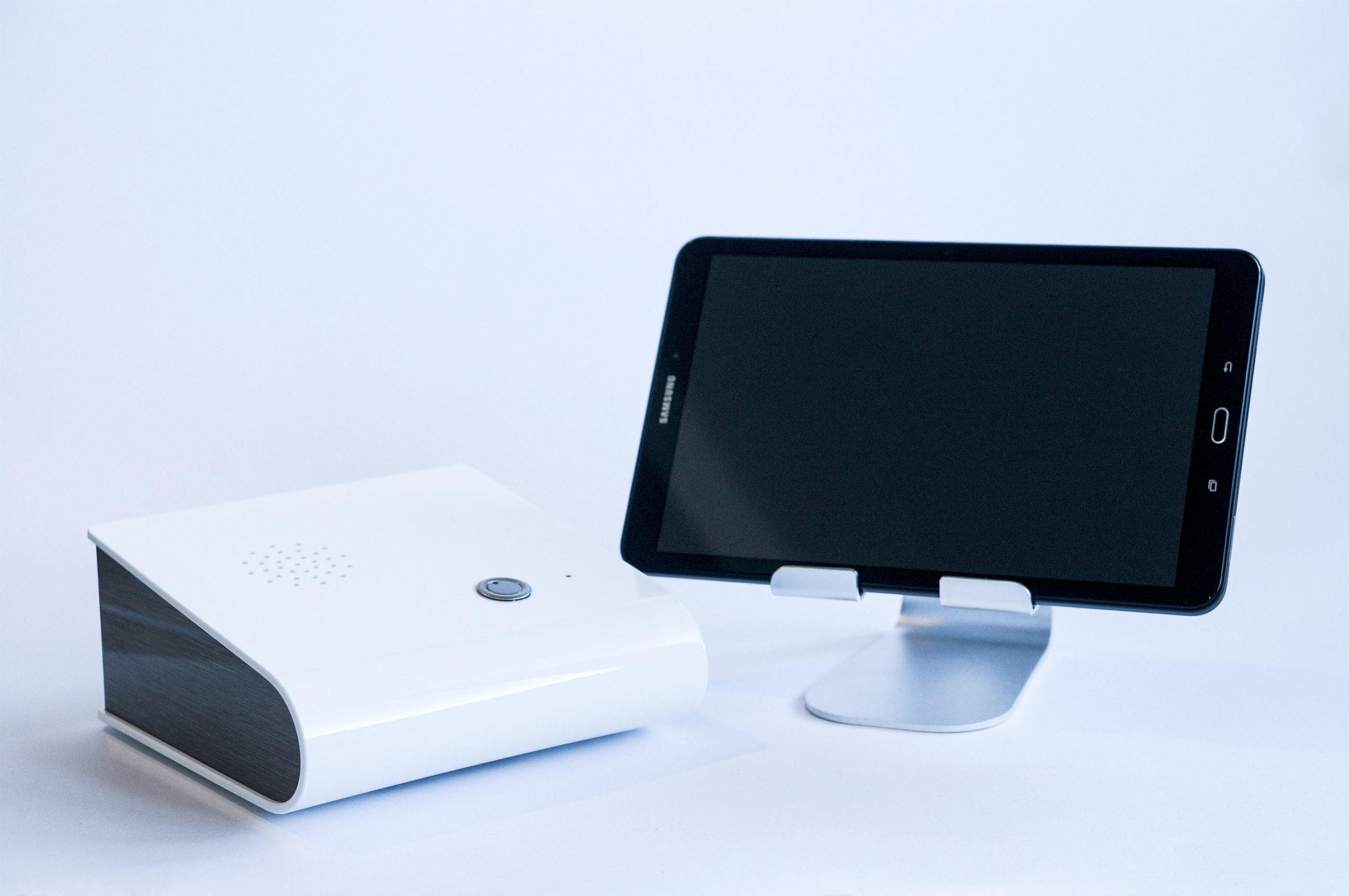 Zentraleinheit und Tablet