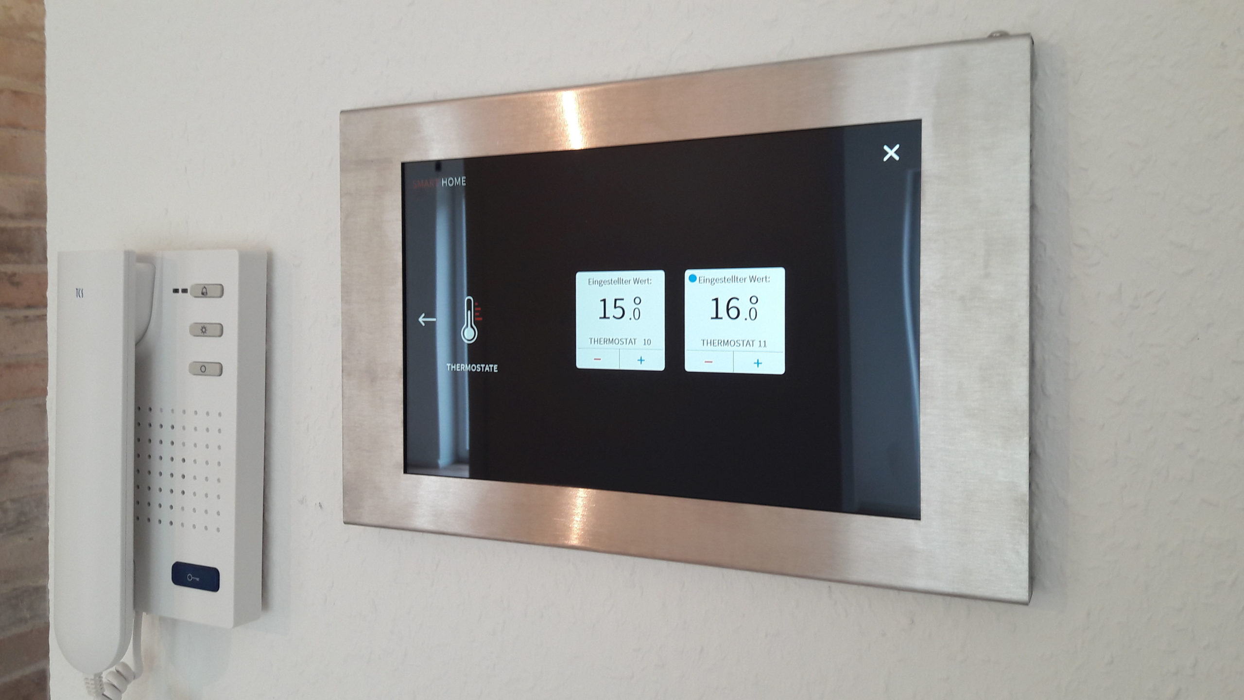 Ansicht Tablet Thermostat
