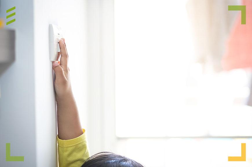 Lichtschalterkonzept für Kleinkind