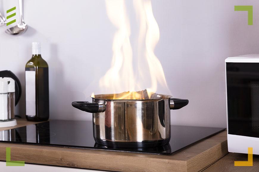 Projekte Brandgefahr Küche
